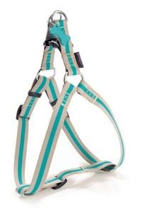 Bobby Arlequin Beige & Blue Nylon Dog Harness XS 1pc