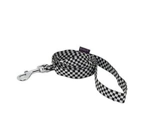 Bobby Euros Black & White Checkered Dog Leash Large 1pc