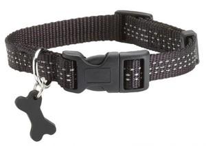 Bobby Black Dog Collar Medium 20x2cm