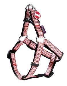 Bobby Prestige White & Red Dog Harness Medium 1pc