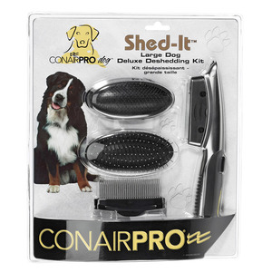 Conair Pro Dog Shed-It Large Dog Deluxe Deshedding Kit 1pack