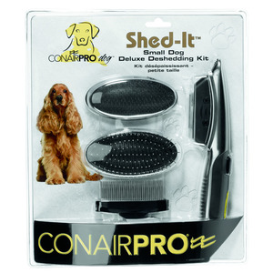 Conair Pro Shed-It Deluxe Deshedding Brush Kit For Dogs 1pack