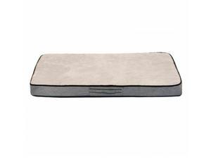 Duvo Cream Extra Large Memory Foam Pet Bed 119x70x10cm