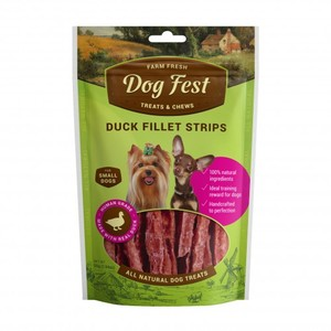 Farm Fresh Dog Fest Duckfillet Strips Natural Treats For Small Dogs 55g