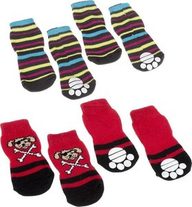 Ferplast Medium Multicolor Antislip Pet Socks 1pc