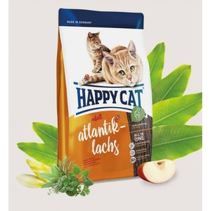 Happy Cat Dry Food With Atlantic Salmon For Adult Cats 4kg
