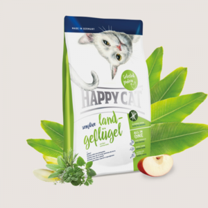 Happy Cat Dry Food With Chicken, Rice & Potato For Sensitive Adult Cats 4kg