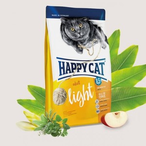 Happy Cat Low Fat Light Dry Food For Overweight Adult Cats 1.4kg