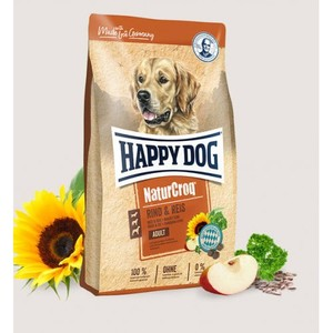 Happy Dog Dry Food With Beef & Rice For Adult Dogs 15kg