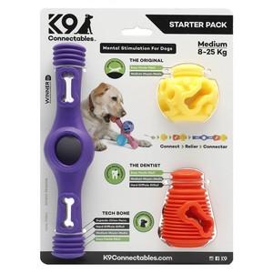 K9 Connectables - Medium Starter Pack Purple/Orange/Yellow 1pack