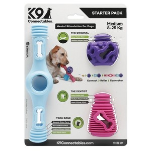 K9 Connectables - Medium Starter Pack Blue/Purple/Pink 1pack