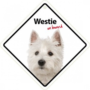 Magnet & Steel My Westie Lives Here Sign 21x15cm