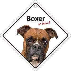Magnet & Steel Boxer On Board Sign 14x14cm