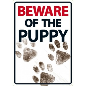 Magnet & Steel Beware Of The Puppy Sign 21x15cm