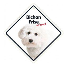 Magnet & Steel Bichon Frise On Board Sign 14x14cm