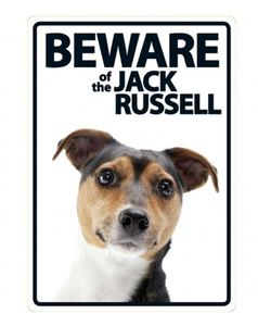 Magnet & Steel Beware Of The Jack Russell Sign 21x15cm