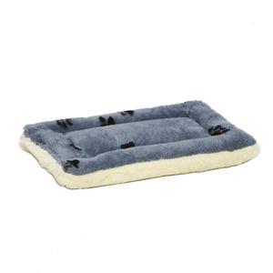 "Midwest Quiet Time Reversible Paw Print Fleece Pet Bed 18"""