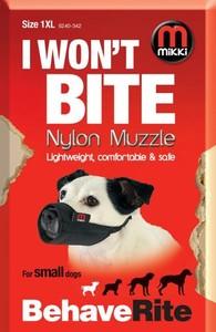 Mikki Behave Rite Nylon Muzzle For Small Dogs XL 10-13cm
