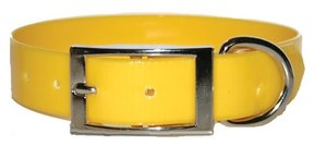 Omnipet Sunglo Neon Yellow Dog Collar With Ring 58.4cm