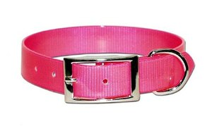 Omnipet Sunglo Neon Pink Dog Collar With Ring 4.5m