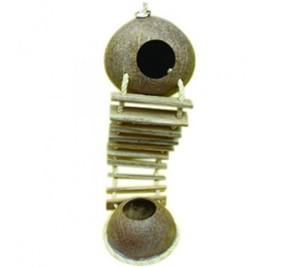 Pado Wooden Ladder Bird Toy With Coconut Shells Btlb1032 1pc