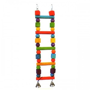 Pado Multicolored Wooden Beads Ladder Bird Toy Btlb030 1pc