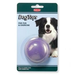 Padovan Medium Purple Rubber Ball Dog Toy 1pc