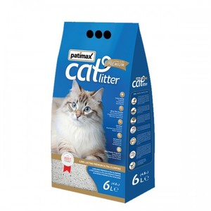 Patimax Long Lasting Ultra Clumping Cat Litter Baby Powder Scented 4.8kg