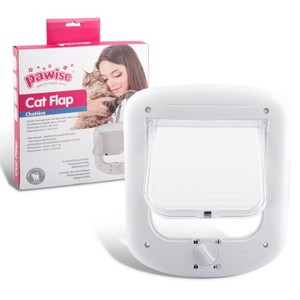 Pawise White Cat Flap With Safety Lock 23.8x26.7cm