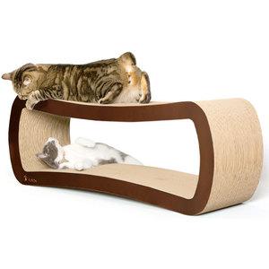 Pet Fusion Jumbo Brown Cat Scratcher Lounge 98x27x37cm