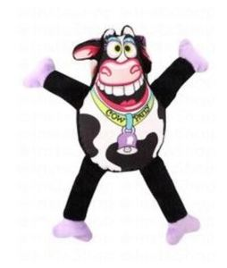 Petstages Multicolor Cow Plush Dog Toy 1pc