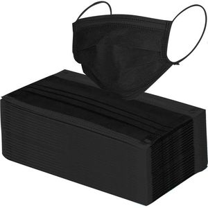 MBA Disposable Black Mask 50pcs
