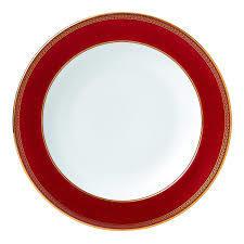 Retro Red Rim Soup Plate 1pc