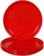 Retro Red Small Plate 1pc