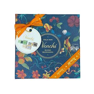 Venchi Assorted Chocolates In Garden Cremini Red & Blue Gift Box 1box
