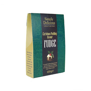 Simply Delicious Christmas Pudding Smooth Butter Fudge 150g