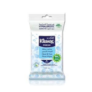 Kleenex Water Fresh Hand & Face Gentle Wet Wipes 24s