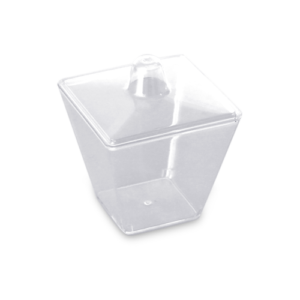 Falcon Oval Dessert Container With Lid 1pc