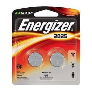 Energizer Coin Cell Cr2025Bp2 2Pc 1set