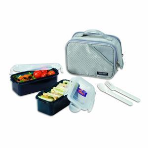 Lock & Lock Lunch Box 5Pcs Set Grey 1pc