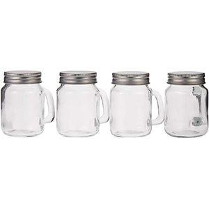 Harmony Tabletop 4Pcs Glass Spice Jar 1set