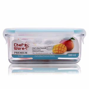 Chef's Ware Prem Tritan Container Rectangle 580Ml 1pc