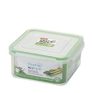 Chef's Ware Glass Container Square 1100Ml 1pc