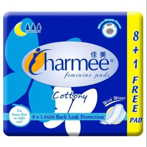 Charmee Cottony Blue Pad With Wings 8pcs