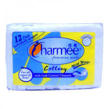 Charmee Cottony With Wings Pads 12pcs