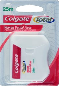 Colgate Total Mint Waxed Dental Floss 25m