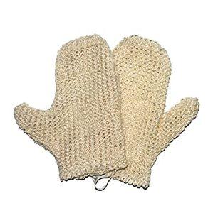 Sisal Sponge Gloves Adults 1pc