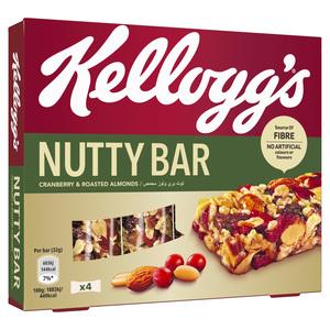 Kellogg's Cranberry & Roasted Almonds Nutty Bar 4x32g