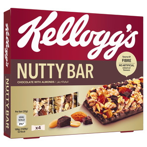 Kellogg's Chocolates With Almonds Nutty Bar 4x32g