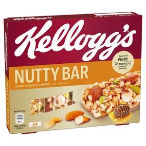 Kellogg's Honey, 3 Seeds & Almonds Nutty Bar 4x32g